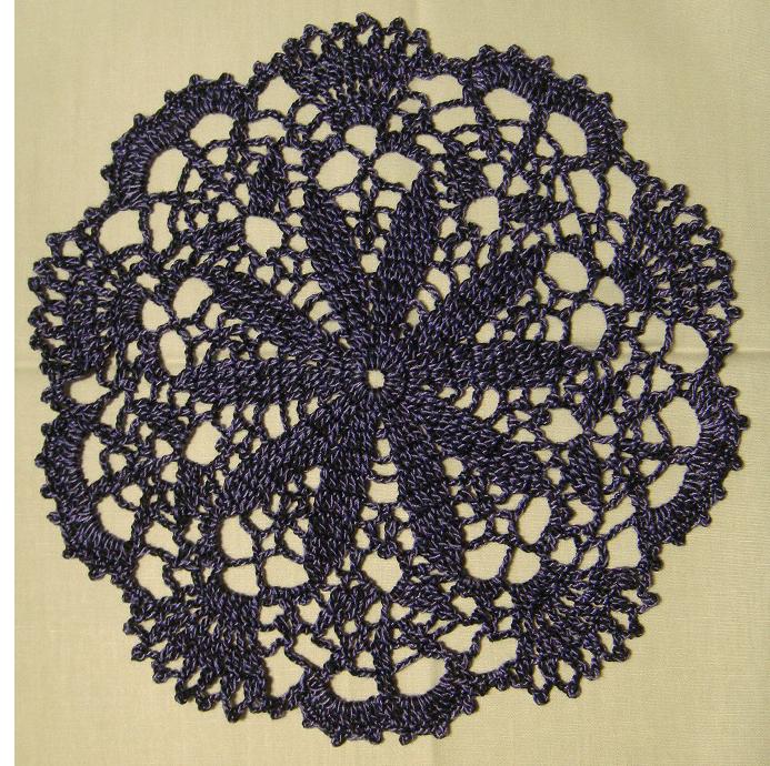 圓形10葉深藍淺紫混色杯墊